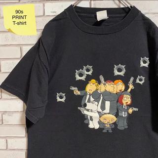 90s 古着 デルタ Tシャツ L ビッグプリント ビッグシルエット ゆるだぼ(Tシャツ/カットソー(半袖/袖なし))