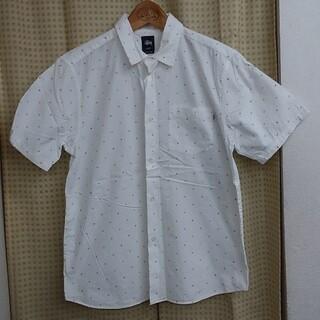 ステューシー(STUSSY)のSTUSSY 半袖ボタンシャツ ドット柄 Mサイズ ステューシー ストゥーシー(シャツ)