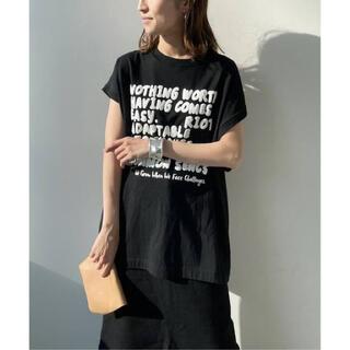 フレームワーク(FRAMeWORK)のたま様専用FRAMeWORK モノトーンプリントフレンチスリーブTシャツ(Tシャツ(半袖/袖なし))