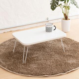 ミニテーブル パステルカラー ホワイト 子供用 かわいい シンプル テーブル(ローテーブル)