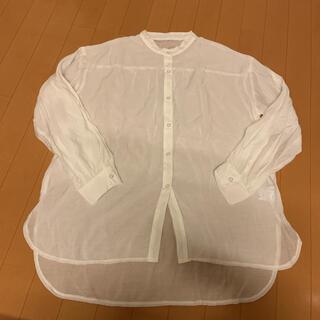 グレイル(GRL)のシアーバンドカラーシャツ(シャツ/ブラウス(長袖/七分))