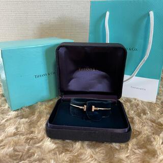Tiffany & Co. - ティファニー Tワイヤー ブレスレット バングル AU750 ピンクゴールド