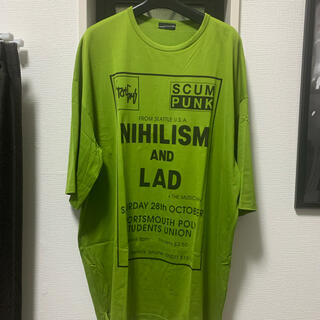 LAD MUSICIAN - 17aw nihilism SUPER BIG T-shirt