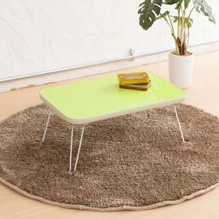 ミニテーブル パステルカラー グリーン 子供用 かわいい シンプル テーブル(ローテーブル)