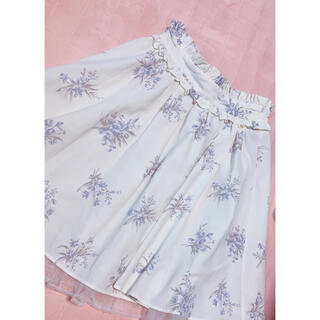 アンクルージュ(Ank Rouge)のAnkRouge 花柄スカート(ミニスカート)