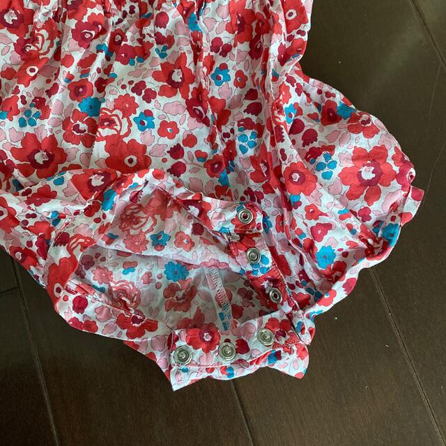 Jacadi(ジャカディ)のジャカディー ロンパース オーバーオール 24m キッズ/ベビー/マタニティのキッズ服女の子用(90cm~)(ワンピース)の商品写真