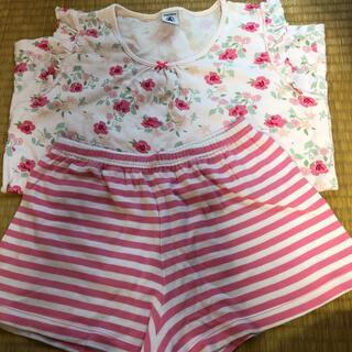 プチバトー(PETIT BATEAU)のプチバトー  パジャマ と Tシャツ 5点セット 12ans(パジャマ)