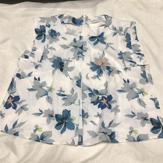 スパイラルガール(SPIRAL GIRL)の花柄 水色 ブルー系 タンクトップ フレアカットソー(カットソー(半袖/袖なし))