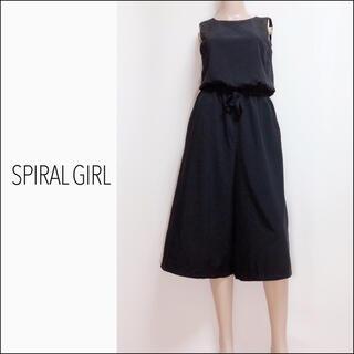 SPIRAL GIRL - SPIRAL GIRL バックオープン ガウチョ オールインワン*EGOIST