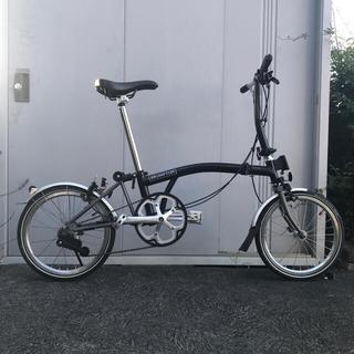 ブロンプトン(BROMPTON)の2018年式 ブロンプトン S2L-X (3速カスタム済)マットブラック 美品(自転車本体)