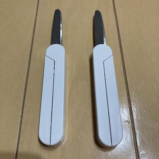 ムジルシリョウヒン(MUJI (無印良品))の2個セット 無印良品 スティック型はさみ ハサミ ホワイト(はさみ/カッター)