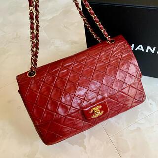 CHANEL - 正規品◆美品 CHANEL シャネル ヴィンテージマトラッセ 赤 レッド