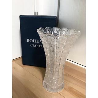 BOHEMIA Cristal - 【美品】ボヘミアクリスタル BOHEMIA CRYSTAL 花瓶 ハンドカット