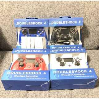 PS4 ワイヤレスコントローラー 4つセット ブラック・ホワイト・ブルー・レッド(その他)