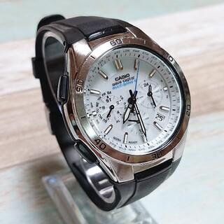 CASIO - 【CASIO/WAVECEPTOR】電波ソーラー クロノグラフ メンズ腕時計