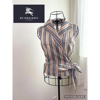 BURBERRY - バーバリーロンドン ストライプブラウス レア品