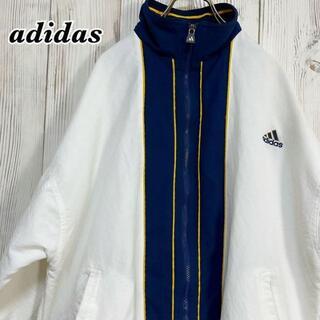 アディダス(adidas)の《激レア》アディダス 90s 刺繍ロゴ ビッグシルエット フルジップジャケット(ナイロンジャケット)