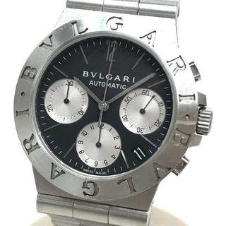 ブルガリ(BVLGARI)のブルガリ CH35S デイト ディアゴノ スポーツ メンズ腕時計 SS シルバー(腕時計(アナログ))