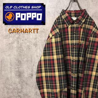 carhartt - カーハート☆ワンポイント刺繍ロゴポケットビッグワークチェックシャツ