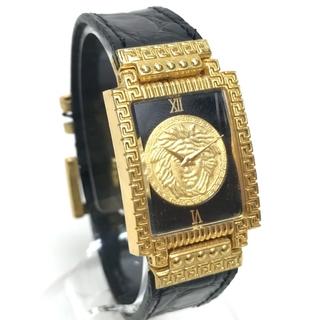 ジャンニヴェルサーチ(Gianni Versace)のジャンニ・ヴェルサーチ メデューサ レディース腕時計 ゴールド×ブラック(腕時計)