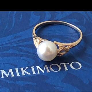 MIKIMOTO - MIKIMOTOミキモト リング パール 7mm K14 ヴィンテージ