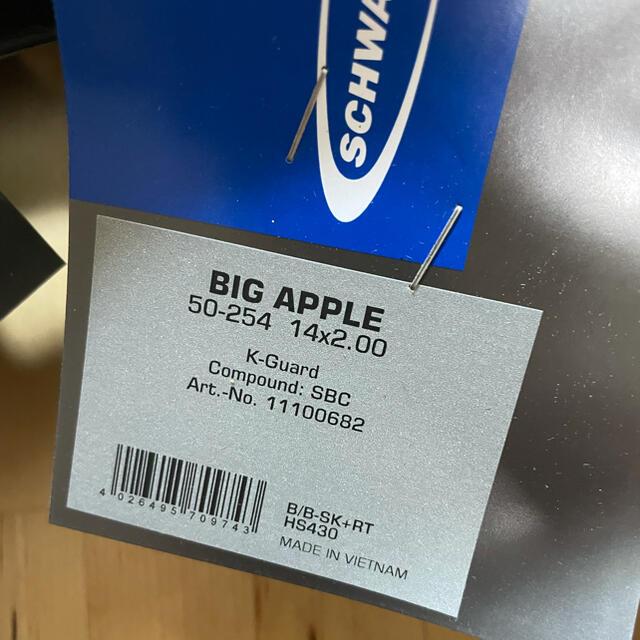 DAHON(ダホン)のSchwalbe Big Apple 14×2.00 16inchビッグアップル スポーツ/アウトドアの自転車(パーツ)の商品写真