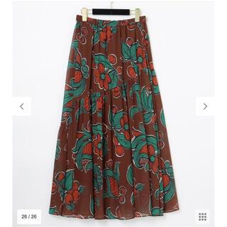 GRACE CONTINENTAL - セール GRACE  CONTINENTAL フラワーモチーフプリントスカート