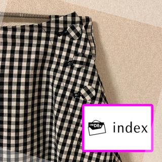 クチュールブローチ(Couture Brooch)のindex☆ギンガムチェック スカート  サイズ38(ひざ丈スカート)