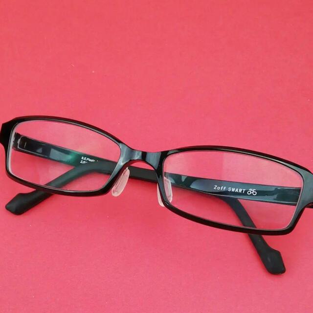 Zoff(ゾフ)のZoffsmart ブラック 細スクエアセルフレーム メンズのファッション小物(サングラス/メガネ)の商品写真