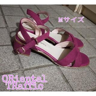 オリエンタルトラフィック(ORiental TRaffic)の【美品】ORientalTRaffic サンダル ピンク M(サンダル)