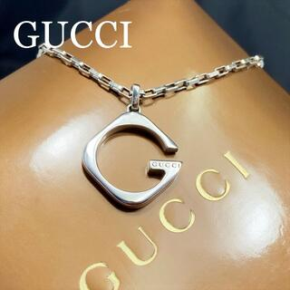 Gucci - 新品仕上 グッチ GUCCI スクエア Gロゴ ネックレス シルバー 925