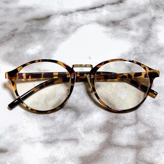 べっ甲 伊達メガネ ダテメ サングラス 眼鏡 マーブル ブラウン 美品