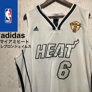 adidas - adidas NBA マイアミヒートヒート レブロンジェイムス ゲームシャツ