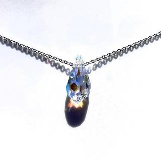 スワロフスキー(SWAROVSKI)のクリスタルABスワロフスキードロップネックレス(ネックレス)