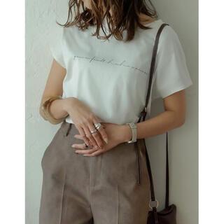オーガニックコットンフレンチ袖Tシャツ