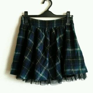 バイバイ(ByeBye)のグリーンチェックミニスカート(ミニスカート)