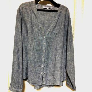 ユニクロ(UNIQLO)のUNIQLO テーラード 麻 カジュアルジャケットシャツ(テーラードジャケット)