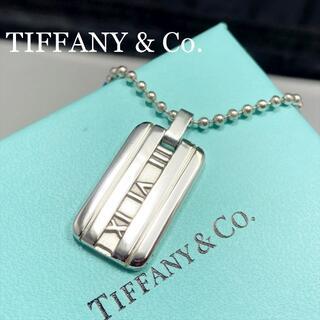 Tiffany & Co. - 新品仕上 ティファニー アトラス プレート ネックレス シルバー 925