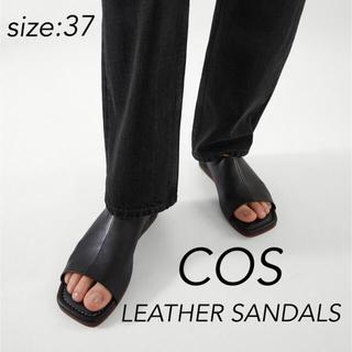 COS - 【新品】COS コス LEATHER SANDALS レザーサンダル 37 黒