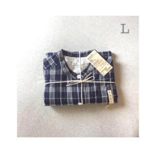 ムジルシリョウヒン(MUJI (無印良品))の無印良品       脇に縫い目のない サッカー織り半袖パジャマ  L(パジャマ)