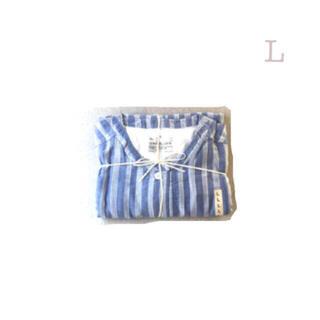 ムジルシリョウヒン(MUJI (無印良品))の無印良品     脇に縫い目のない 薄手二重ガーゼ七分袖パジャマ  Lストライプ(パジャマ)
