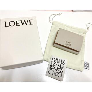 LOEWE - 今期購入極美品♡LOEWEアナグラムトライフォールドウォレット♡ライトゴースト