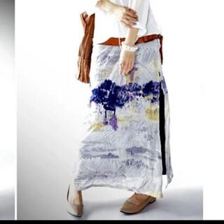 antiqua - アンティカ 水彩画ロングスカート