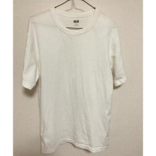 ユニクロ(UNIQLO)のクルーネックT(半袖)1枚450円 白黒2枚セット(Tシャツ/カットソー(半袖/袖なし))