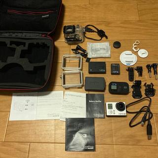 ゴープロ(GoPro)のGopro HERO3 と スペアバッテリー、ケース付(コンパクトデジタルカメラ)