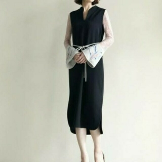 mame - mame 刺繍レースドレス