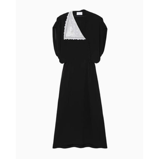 mame - Lace Flap Collar Classic Dress