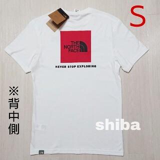 THE NORTH FACE - ノースフェイス tシャツ 白 Red Box tshirt ボックスロゴ 海外S