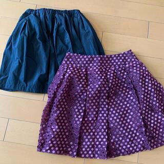 ユニクロ(UNIQLO)のスカート2点(ミニスカート)