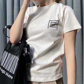 GN028 goodnight5tore t-shirt logo Black